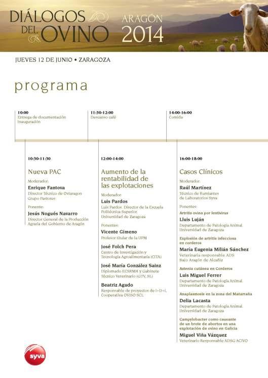 Programa Diálogos del Ovino Aragón 2014